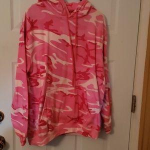 Pink camo hoodie